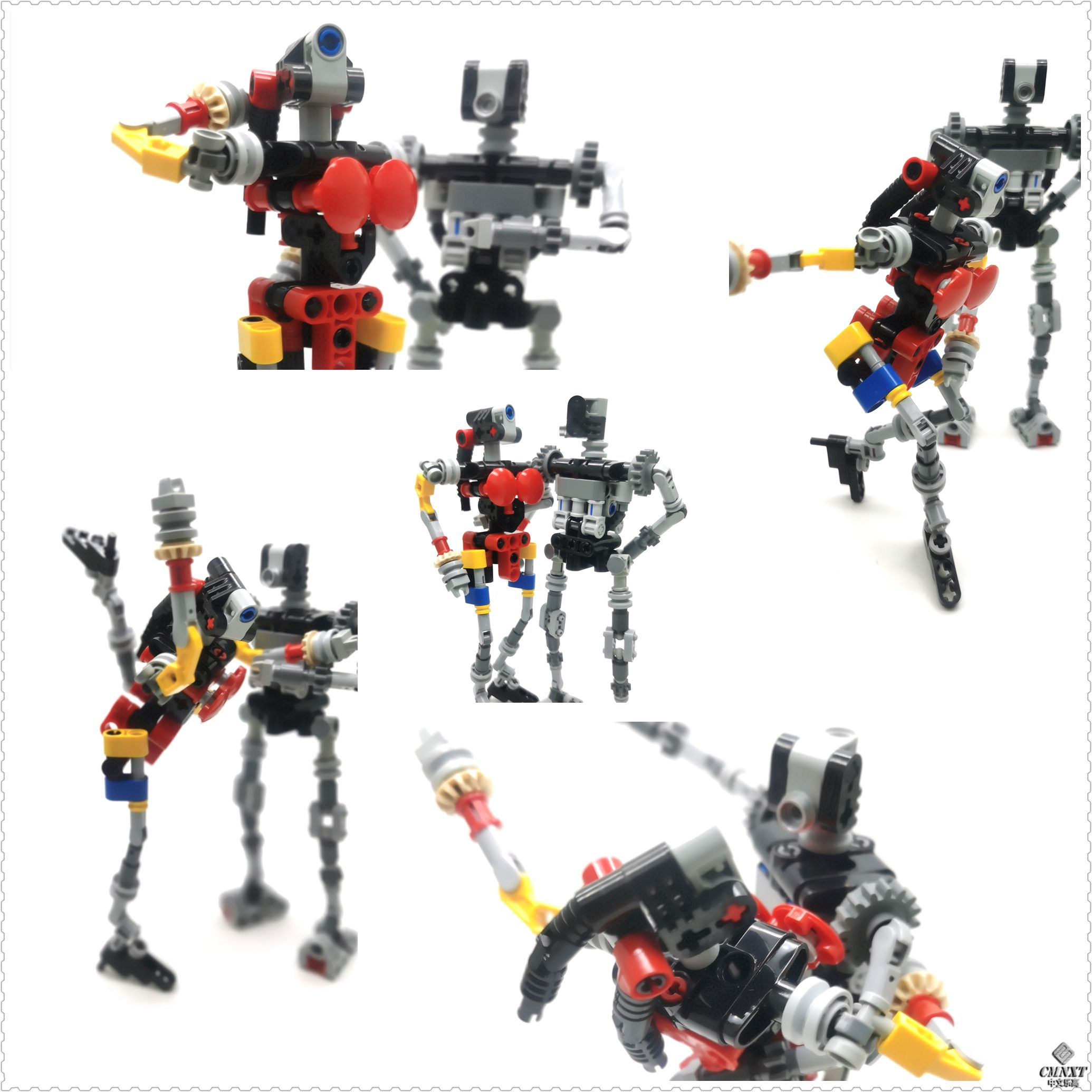 LEGO MOC 科技件大人仔 Large size technical figures conso 01.jpg